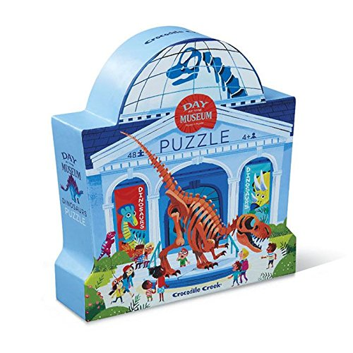 Crocodile Creek Day At Museum Dinosaur-Piece Jigsaw Floor Puzzle (48)