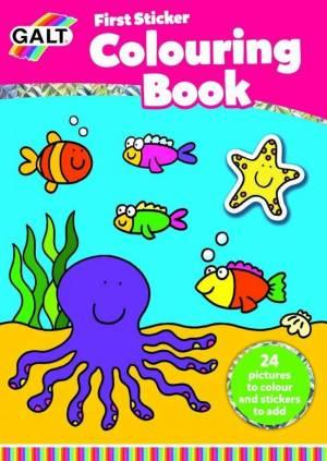 Galt Toys First Sticker Colouring Book