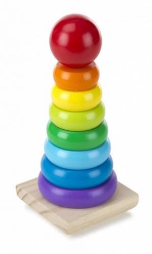 Rainbow Wooden Stacker