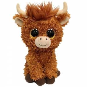 "Ty Beanie Boo Angus Highland Cow 6"""