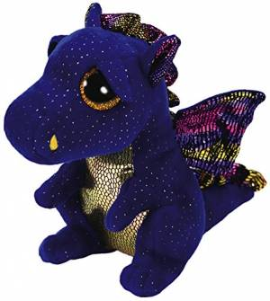 Ty Beanie Boo Saffire The Blue Dragon 6""