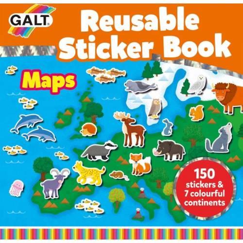 Galt Reusable Sticker Book – Maps