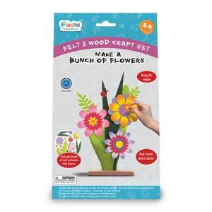Felt and Wood Children's Craft set. Make a Bunch of Flowers. The Toy Shop Malahide, Dublin.