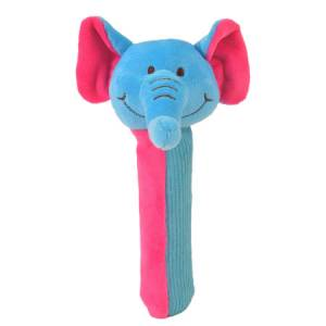 Elephant Squeakaboo Rattle Toy