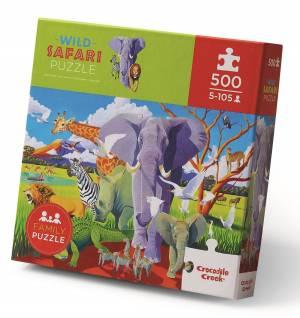 Wild Safari Puzzle. Family Jigsaw. The Toy Shop Malahide