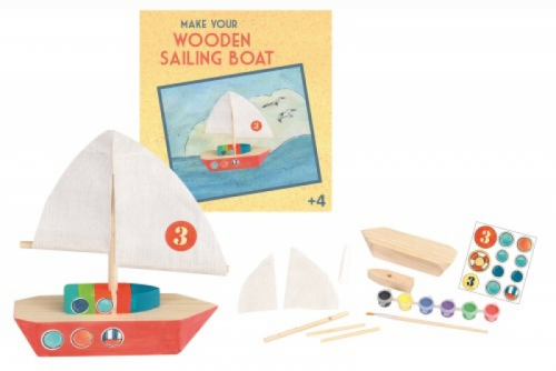 Arts and Craft Wooden Sailing Boat Toy. Order Online. The Toy Shop Malahide