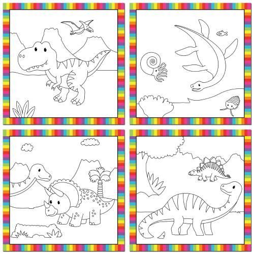 Water Magic Children's Activity. Baby Dinosaurs.